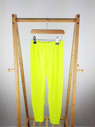 Next neon yellow leggings 9-10 years