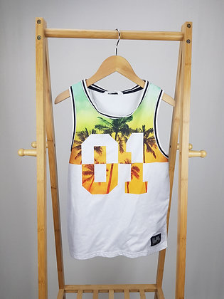 H&M tropical vest top 10-12 years