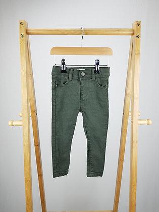 F&F khaki denim jeans 12-18 months