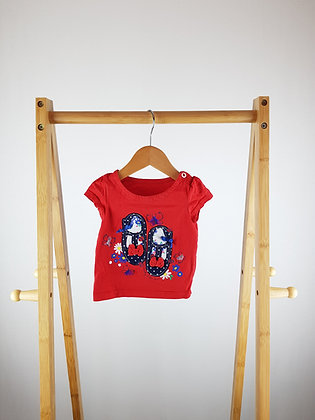 Mothercare red t-shirt 6-9 months