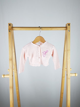 Tiny me pink knitted cardigan newborn