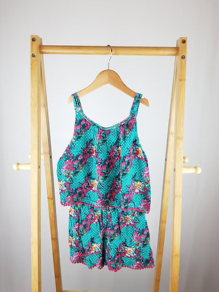 F&F floral playsuit 8-9 years
