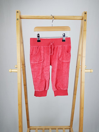 Girl2girl red velvet crop trousers 5-6 years