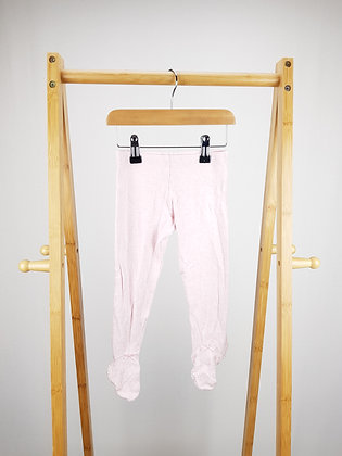 F&F pink bottoms with closed feet 12-18 months
