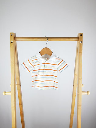 Tiny Ted striped polo shirt newborn