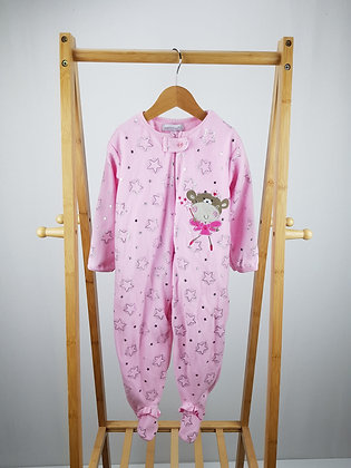 Early days pink fleece sleepsuit 18-24 months