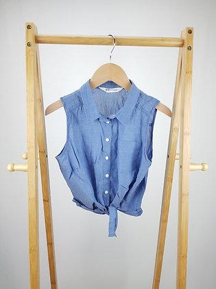H&M blue sleeveless blouse 12-13 years