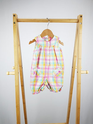 Baby checked romper 0-3 months