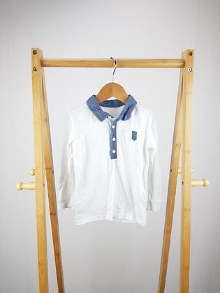George buttoned long sleeve polo shirt 18-24 months