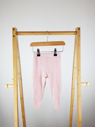 M&S pink spotted bottoms with closed feet 3-6 months