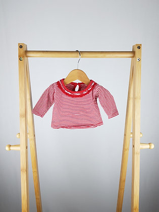 Early days striped long sleeve top newborn