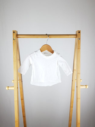 F&F white long sleeve top up to 1 month