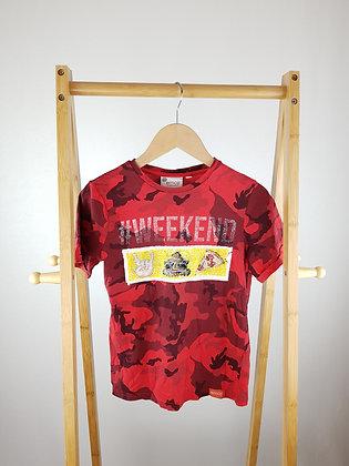 Emoji flippy sequin camo t-shirt 9-10 years