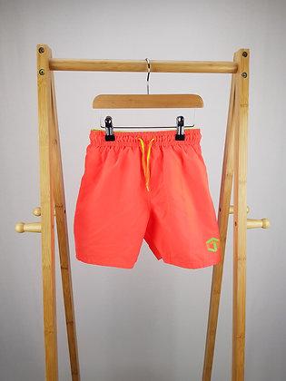 F&F neon orange shorts 7-8 years