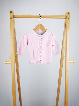 F&F pink knitted cardigan 0-3 months
