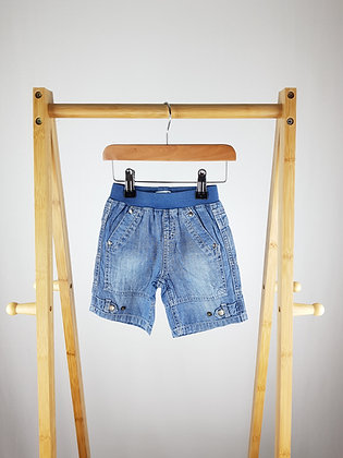 Vertbaudet denim shorts 6-9 months