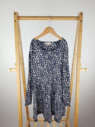 Bluezoo long sleeve leopard dress 9-10 years
