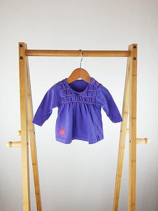 M&S purple long sleeve top 0-3 months