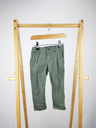 H&M khaki denim trousers 18-24 months