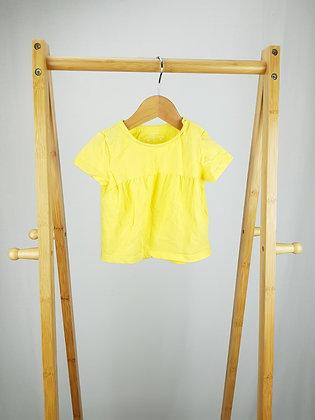 F&F yellow t-shirt 9-12 months