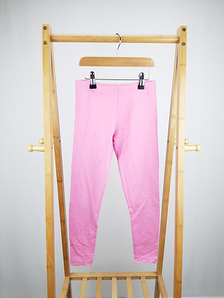 George pink leggings with lace trim 9-10 years