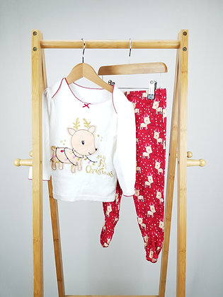George My 1st Christmas pyjama 12-18 months