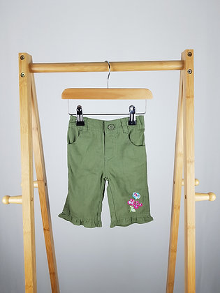 Unbranded embroidered shorts 9-12 months