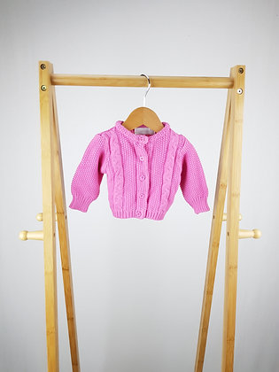 Early days pink knitted cardigan  3-6 months