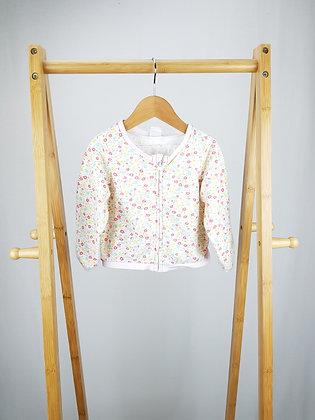 H&M floral zipped jacket 9-12 months