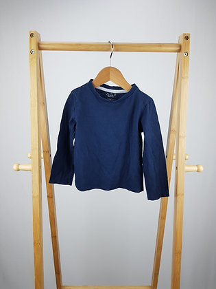F&F navy long sleeve top 18-24 months