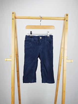 John Lewis lined navy corduroy trousers 12-18 months