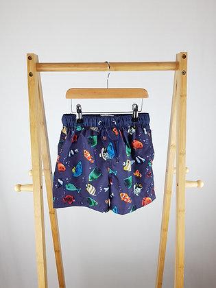 Summer vibes fish print shorts 6-7 years