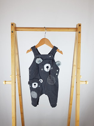 George teddy dungarees 0-3 months