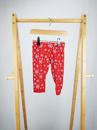 F&F Christmas pyjama bottoms 9-12 months