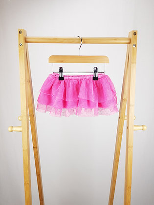 M&S pink tiered tulle skirt 12-18 months