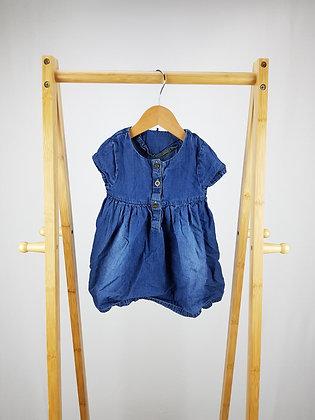 George buttoned denim dress 9-12 months