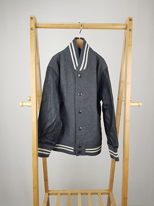 GAP wool/faux leather mix jacket 6-7 years
