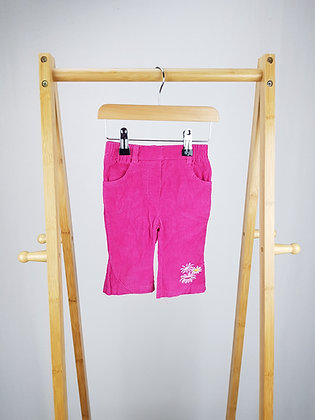 Lynnnat pink cord trousers 3-6 months
