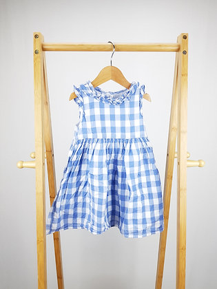 George blue checked dress 12-18 months