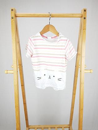 H&M striped cat t-shirt 18-24 months