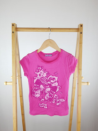 Bebe Lonia pink butterfly t-shirt 11-12 years