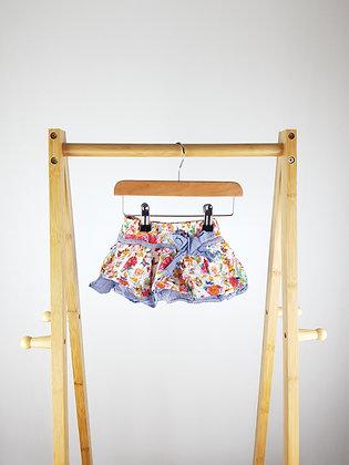 Silver sun floral skirt 6-9 months