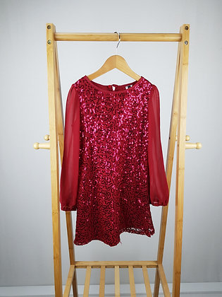 Red Renaissance sequin occasion dress 6-7 years