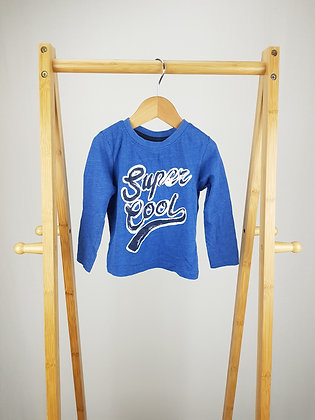 Mini Rebel blue long sleeve top 12-18 months