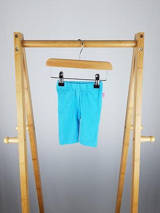 Jojo Maman Bebe blue leggings 0-3 months