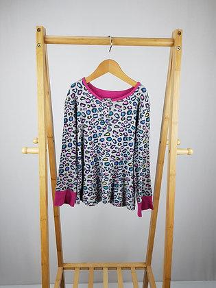 M&S leopard long sleeve pyjama top 7- 8 years