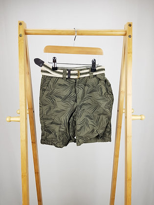 Denim Co tropical chino shorts with belt 7-8 years