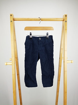 H&M navy corduroy trousers 12-18 months