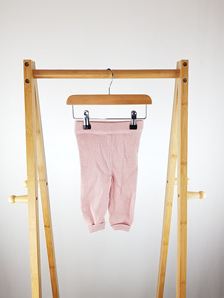 F&F pink knitted bottoms 0-3 months