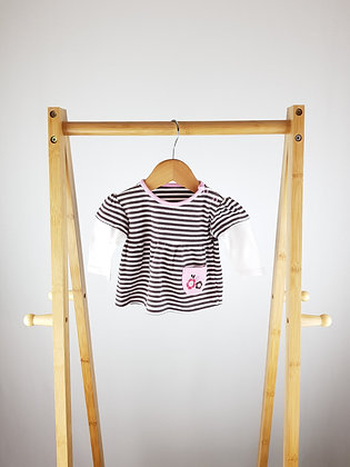 George striped long sleeve top first size